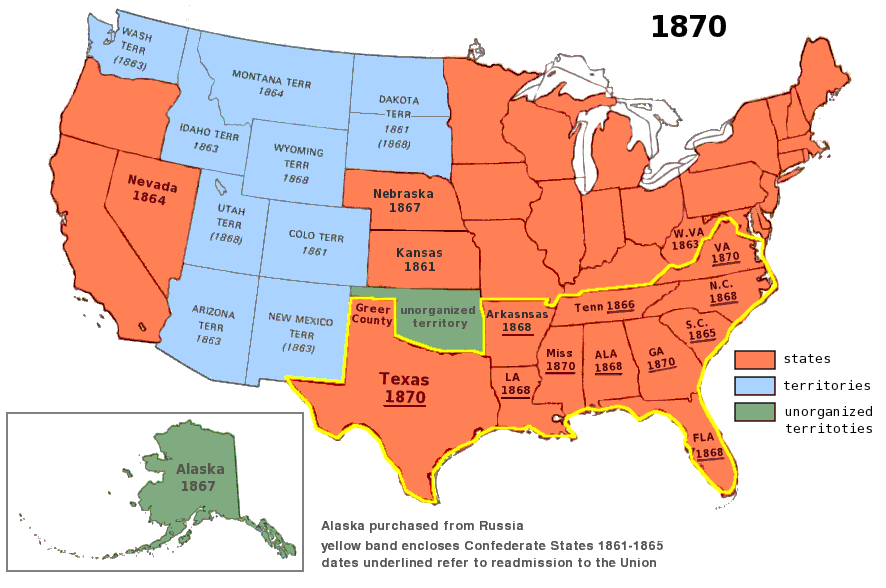 USA Immigration From The Beginning Part The Period - Map of us in 1821