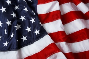 American flag background - shot and lit in studio