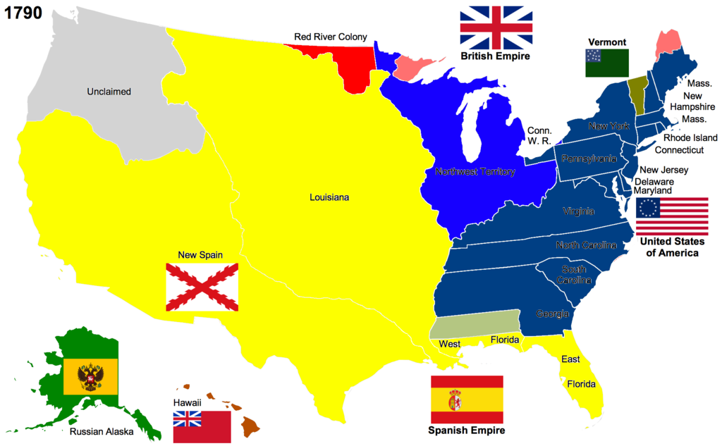 USA Immigration From The Beginning Part The Period - Map of us in 1820